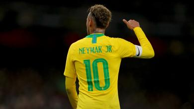 Neymar Jr. in his Brazil National Team Uniform