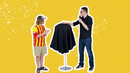 We force a Barcelona fan to review a Real Madrid jersey