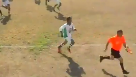 India ref attacked