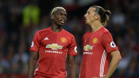 Zlatan and Pogba share harsh words