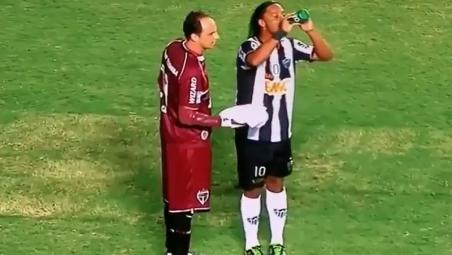Ronaldinho Water bottle trick