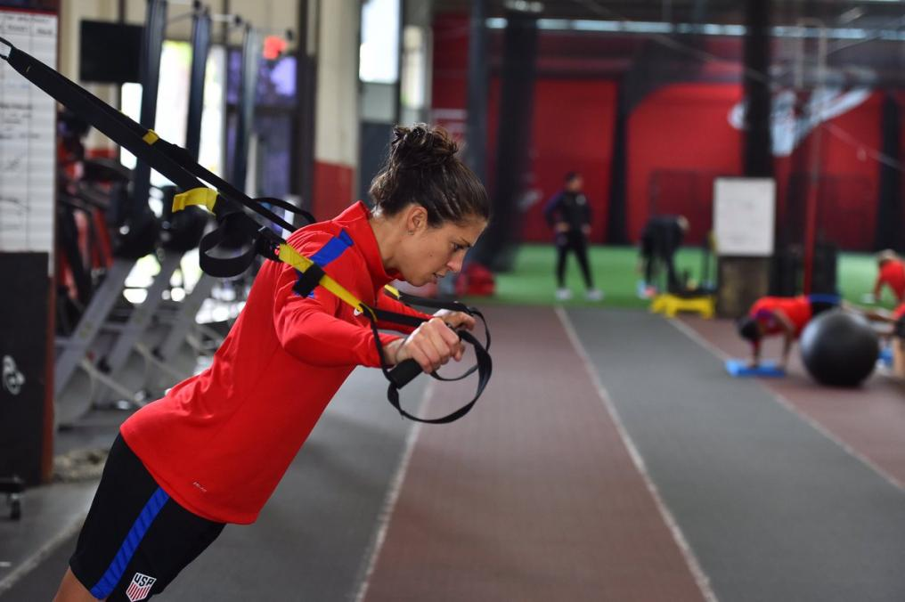 Carli Lloyd trains with USWNT for upcoming season