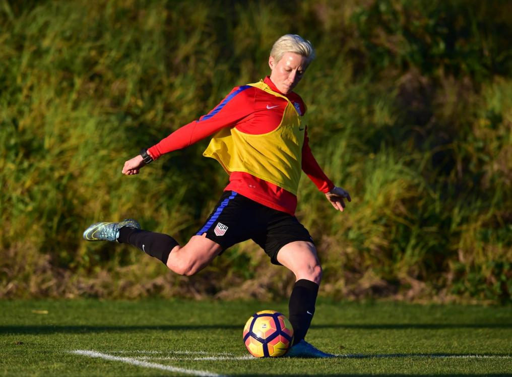 Megan Rapinoe trains with USWNT for upcoming season