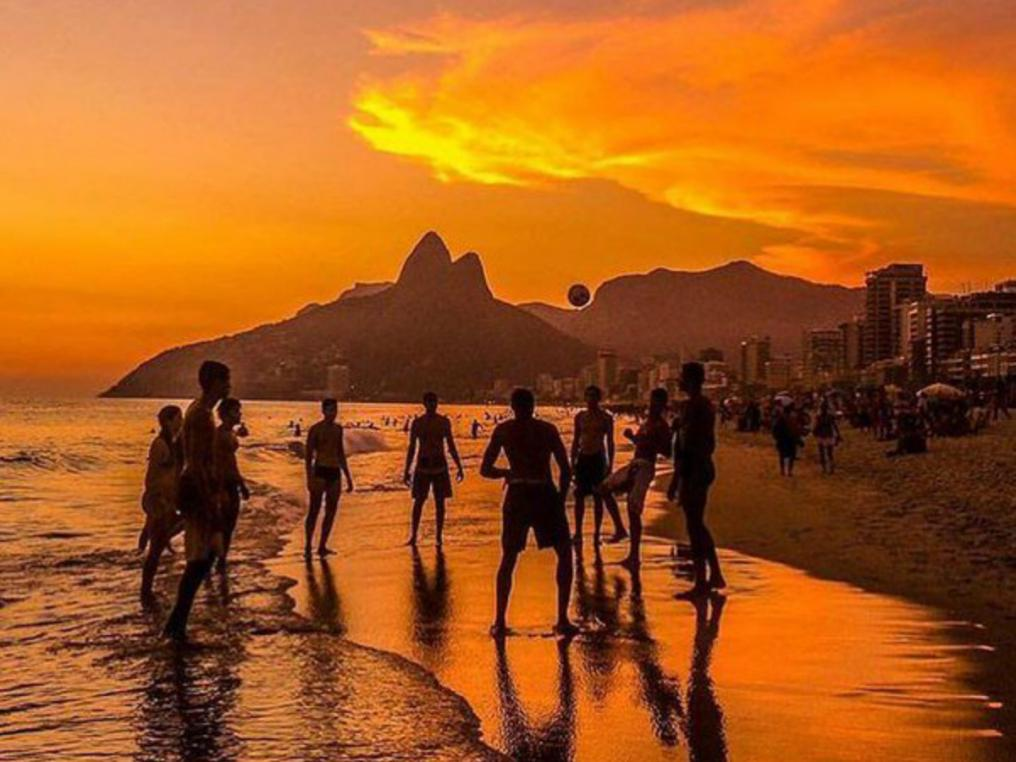 Beach Soccer at Ipanema Beach