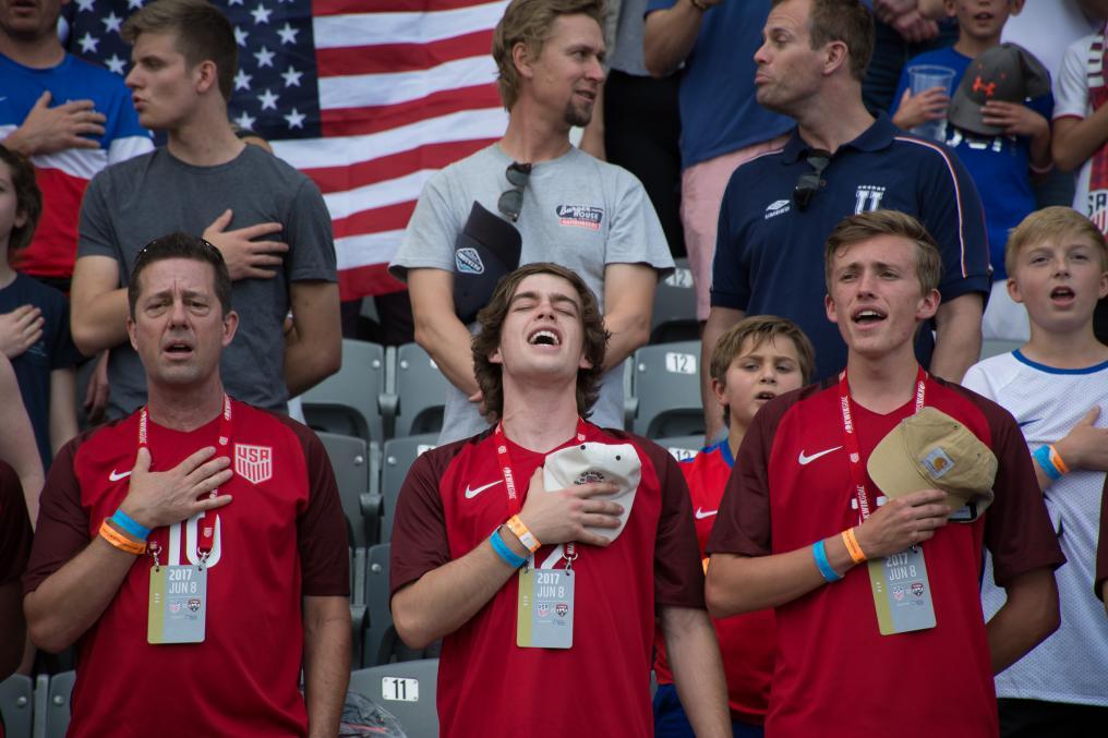 USMNT Fan Sings The Anthem