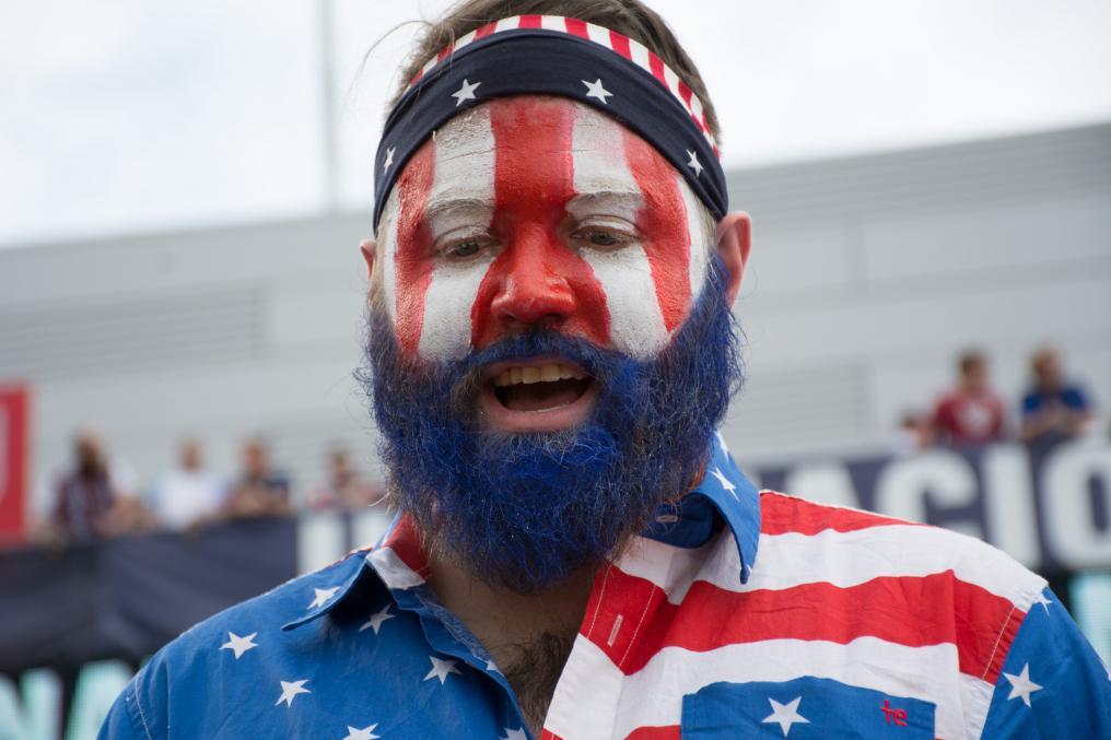 USMNT Fan Face painted