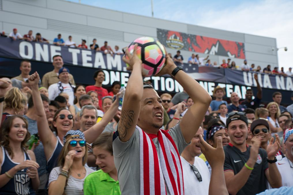 USMNT Fan Catches a Jozy Altidore Header
