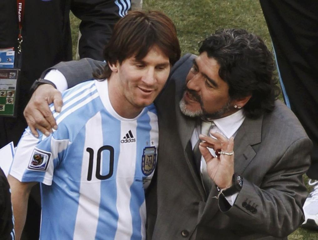 Messi 2010 Maradona