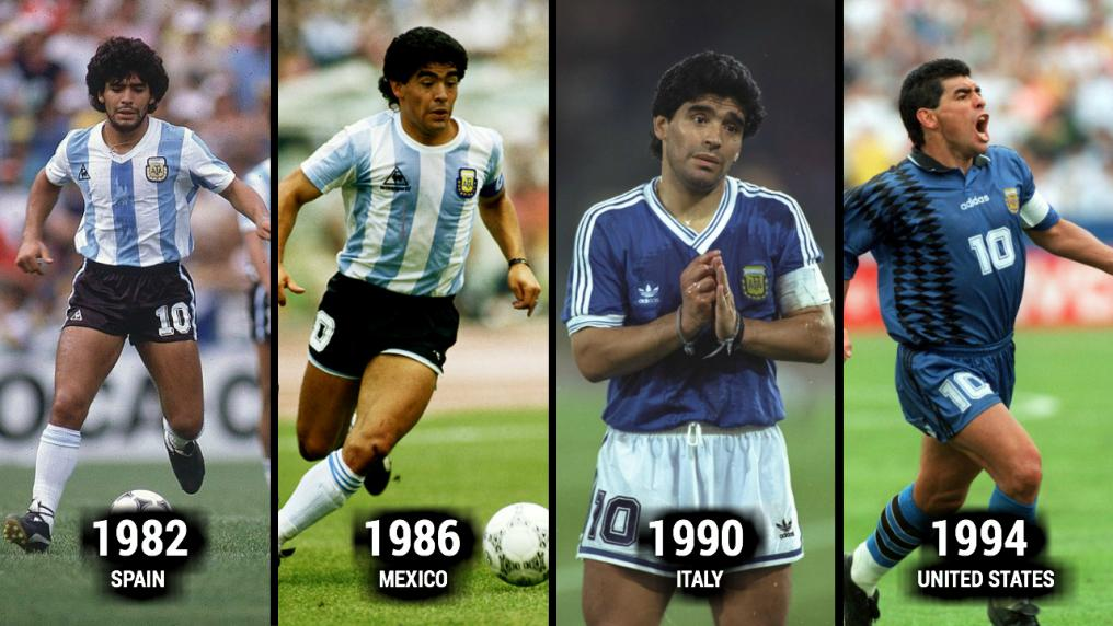 Maradona World Cup Evolution