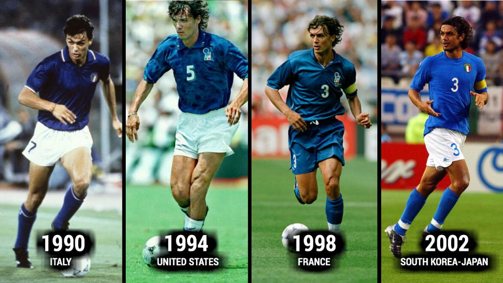 Paolo Maldini World Cup Evolution