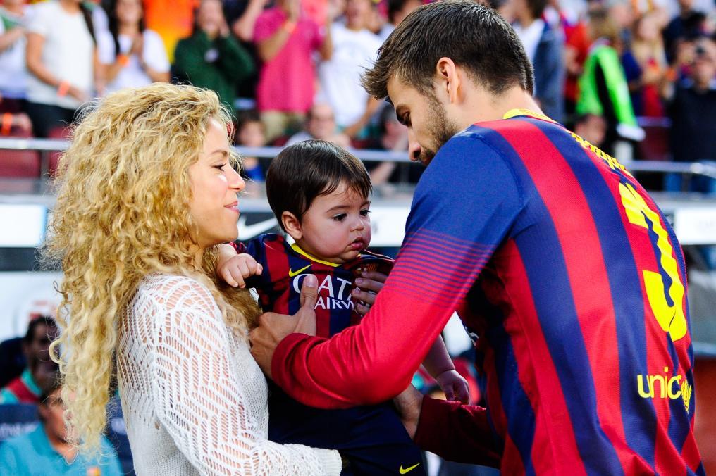 Shakira, Piqué and son