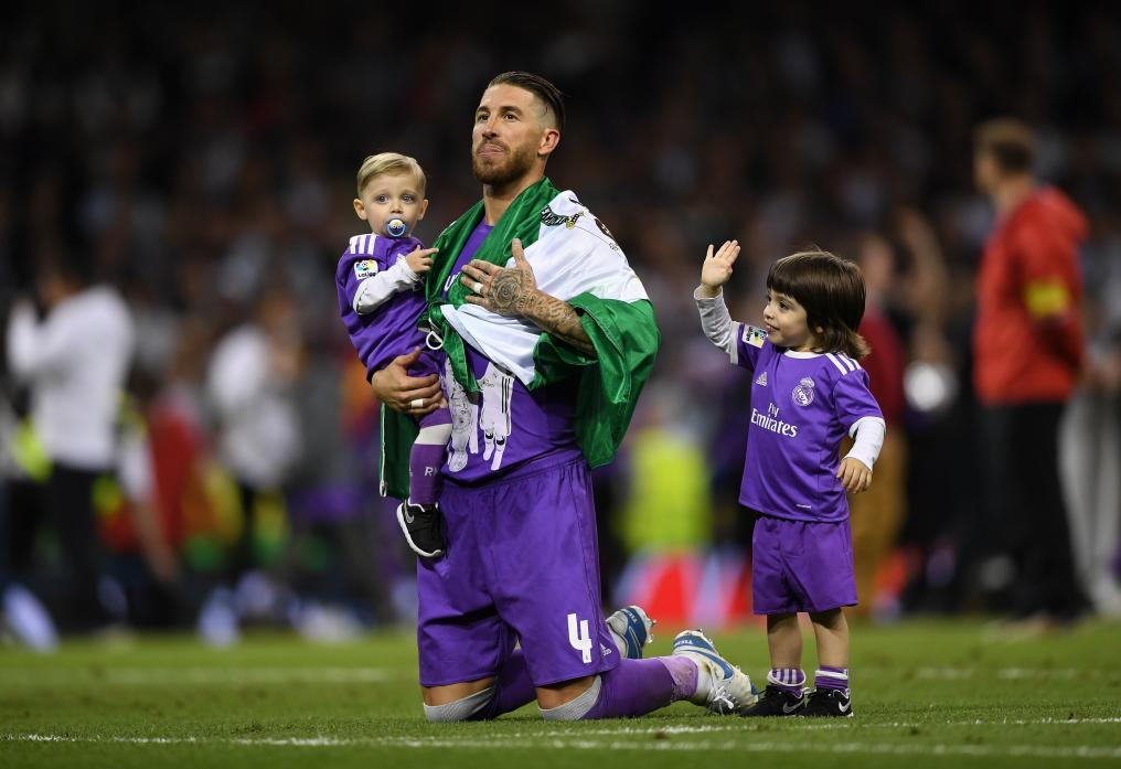 Sergio Ramos with kids Sergio and Marco.
