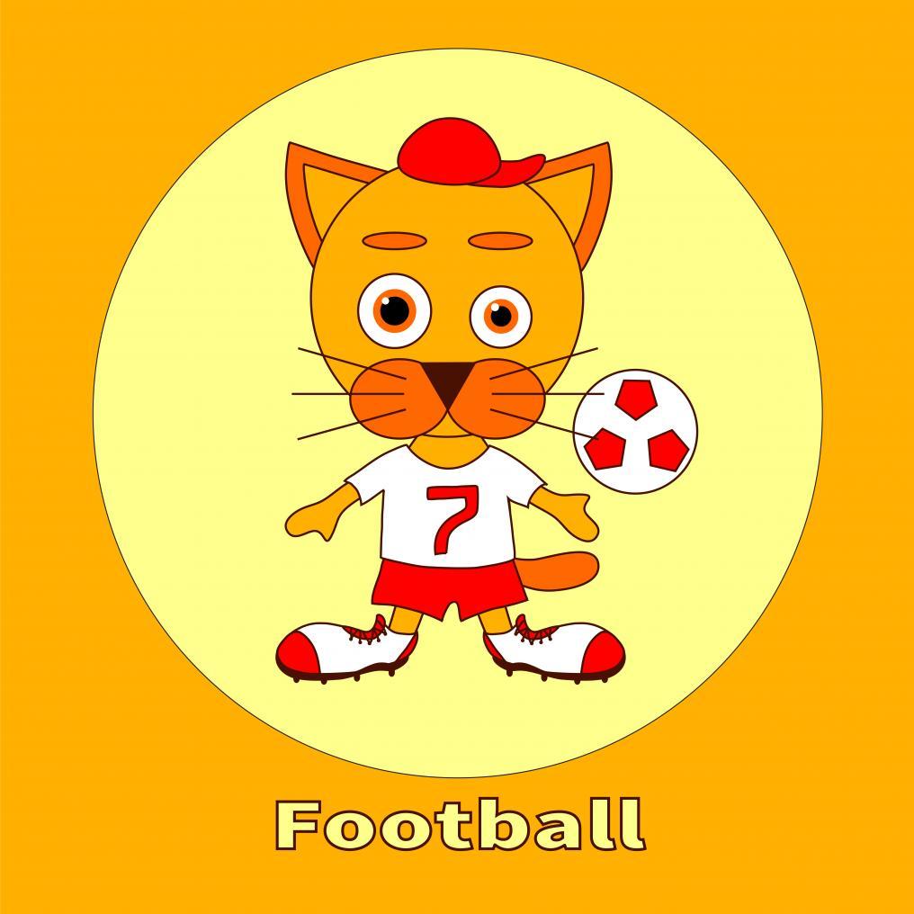 Soccer Cat Toon