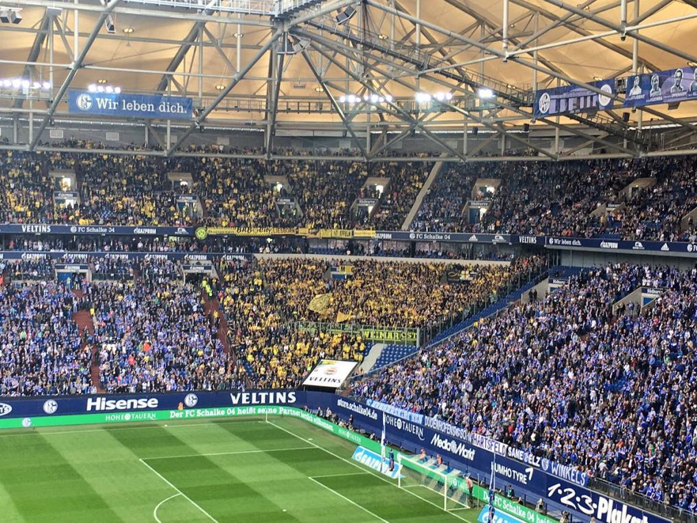 Dortmund visiting supporters