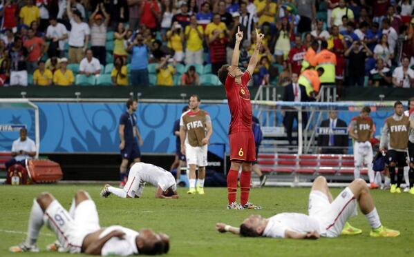 Sad World Cup photos - USA vs. Belgium