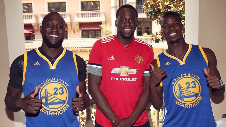Draymond Green hangs with Pogba and Lukaku