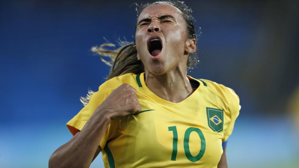 Marta Celebrates After Win At 2016 Olympic Games