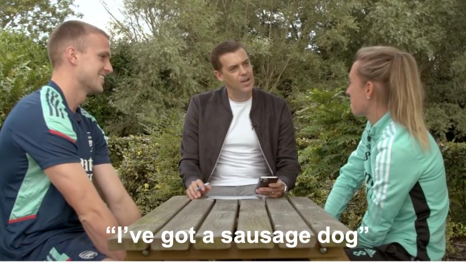 Jordan Nobbs Has A Sausage Dog