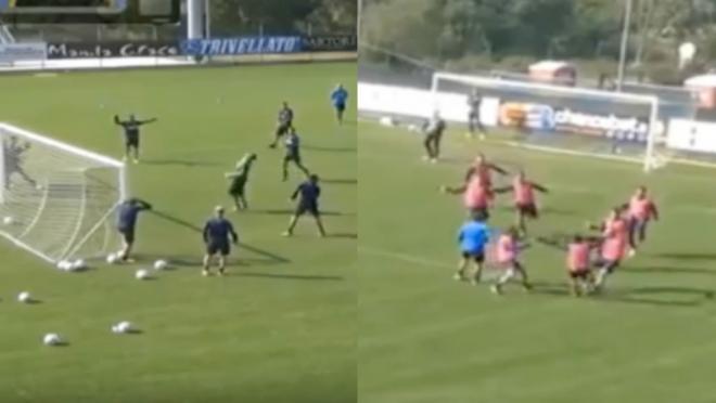 Hellas Verona training rabona goal
