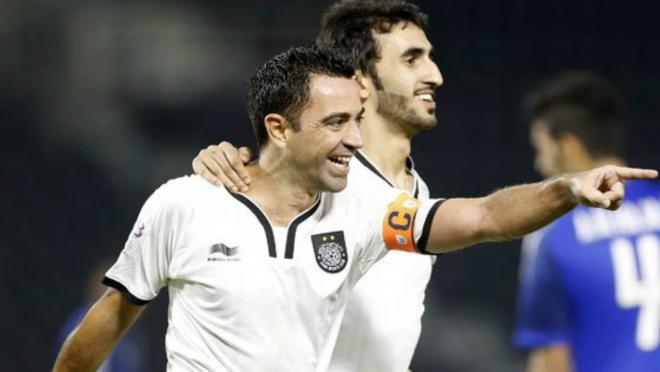 Xavi Hernandez goal for Al Sadd.