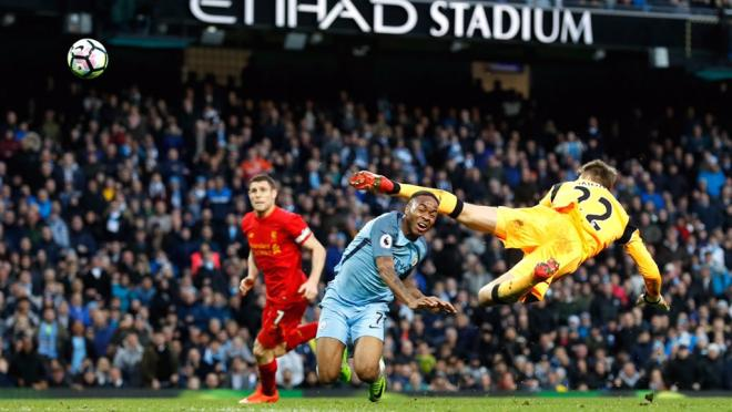 Raheem Sterling Attempt Saved