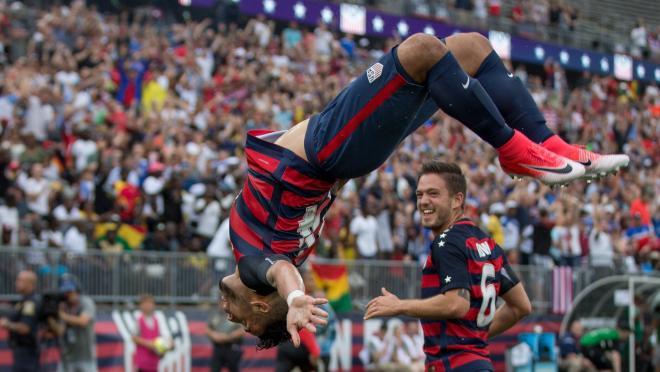 Dom Dwyer USA Celebration vs. Ghana