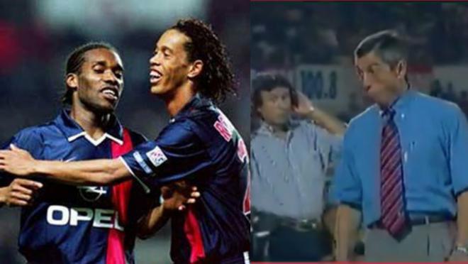 Jay-Jay Okocha and Ronaldinho