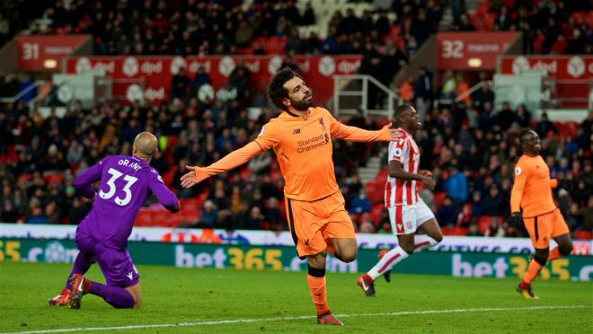 Mohamed Salah Goal Celebration vs Stoke City