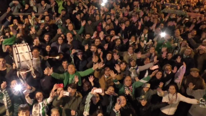 Seville Derby celebrations