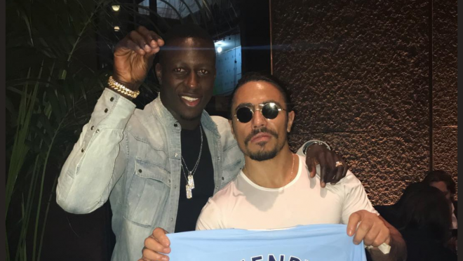 Benjamin Mendy and Salt Bae