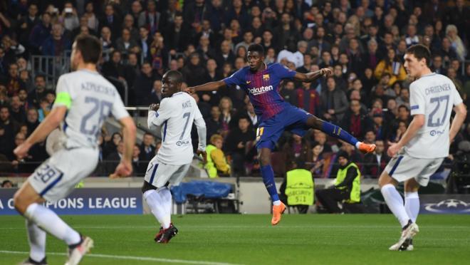 Dembele goal vs Chelsea
