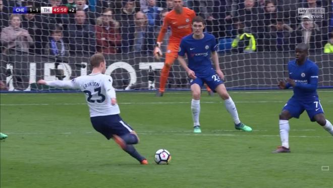 Christian Eriksen goal vs Chelsea