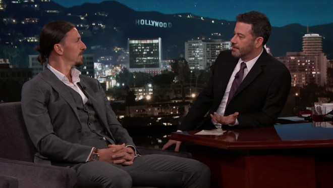Zlatan on Kimmel