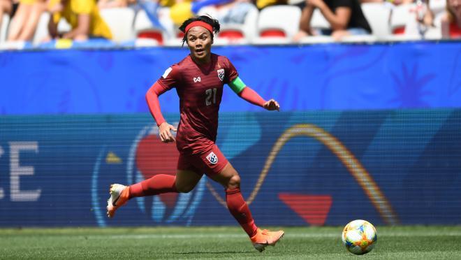Kanjana Sungngoen Scored Thailand's 4th Goal In WWC History