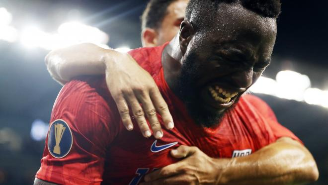 Jozy Altidore After Scoring Unreal Bicycle Kick Goal