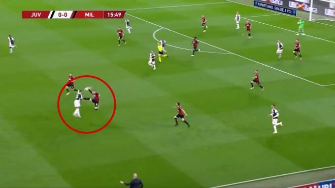 Ante Rebic Red Card — Juventus vs AC Milan Highlights