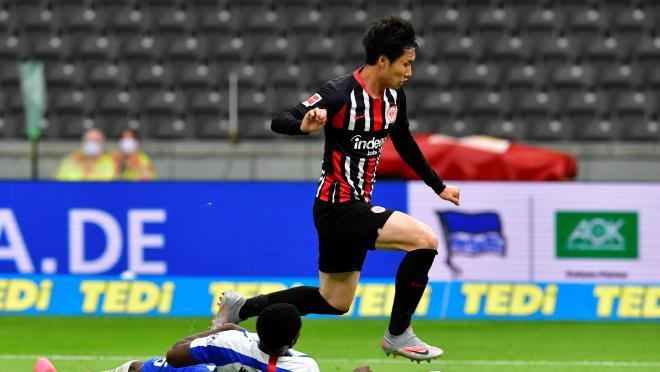 Andre Silva Goal vs Hertha Berlin set up by Daichi Kamada