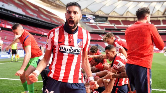 Atletico Madrid Celebrates Luis Suarez's Dramatic Game-Winner