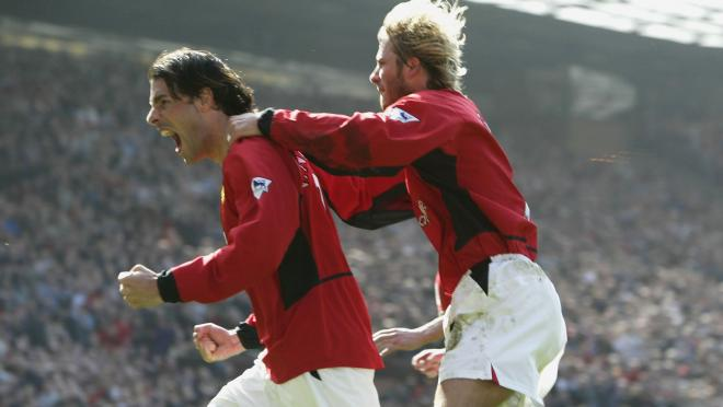 Ruud van Nistelrooy and David Beckham