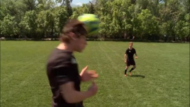 Directional Header Soccer Skills Training Video