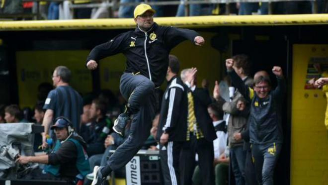 Jurgen Klopp during his spell at Dortmund