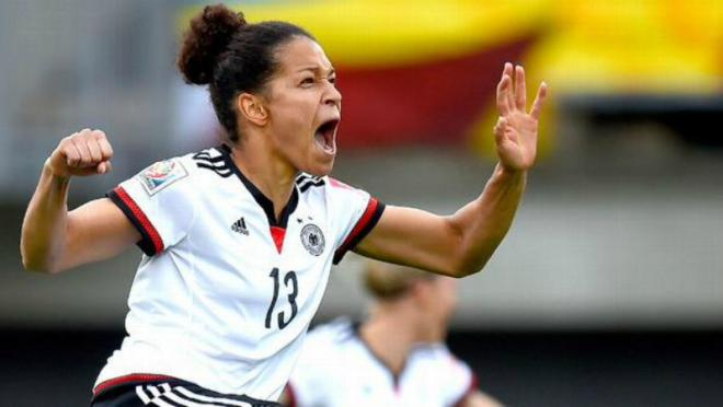 Celia Sasic scores the first hat-trick of the World Cup