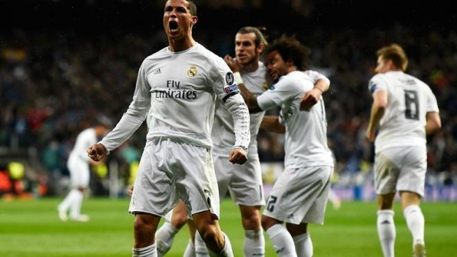Cristiano Ronaldo celebrates his 16th goal in his past 10 matches.