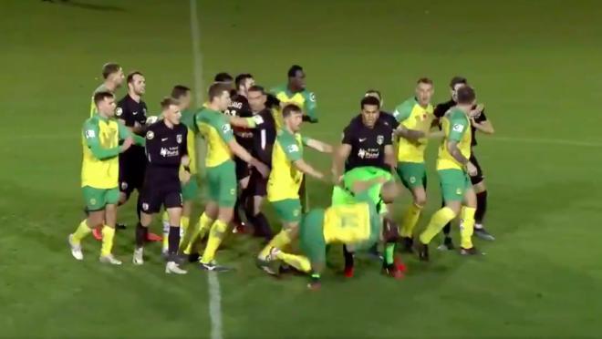 Welsh Premier League fight