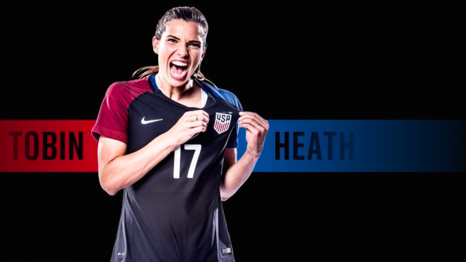 Tobin Heath Named 2016 Female Player of the Year