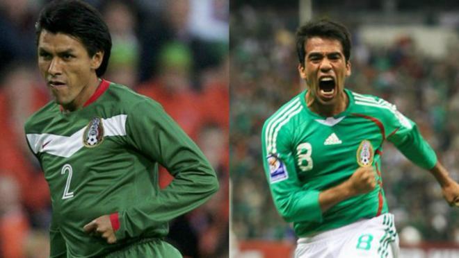 Claudio Suarez and Pavel Pardo