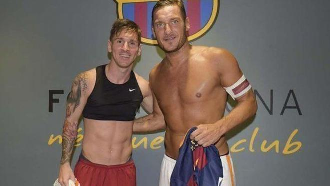 Messi and Totti
