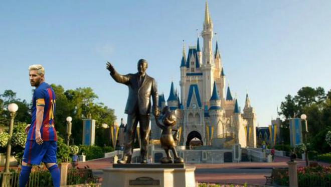 Lionel Messi Disneyland