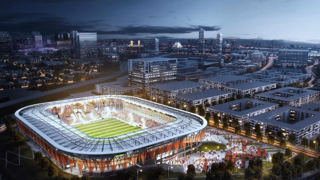 A rendering of the Sacramento Republic FC stadium, should the MLS expansion move forward