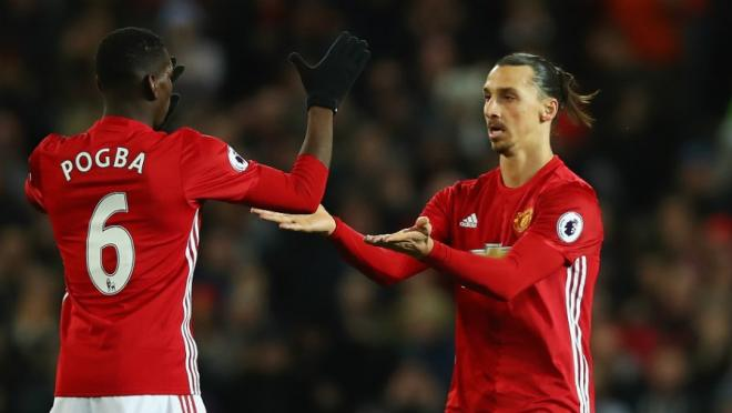 Zlatan Ibrahimovic took Paul Pogba's man of the match award.